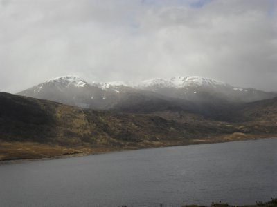 Loch Ness trip - snow covered munros