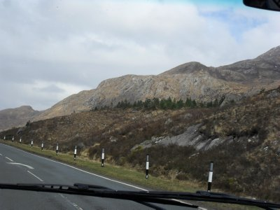 Loch Ness trip - heather covered highlands