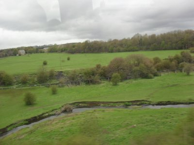 Train vista through the coastal areas of England and Scotland