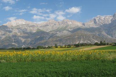 Beautiful fertile fields in Arslanbob