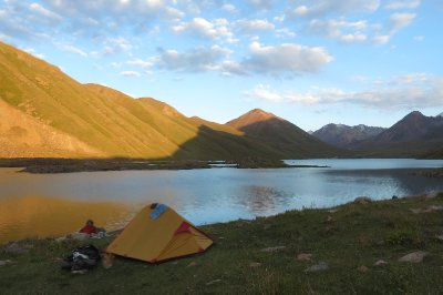 Camping at Kul Ukok