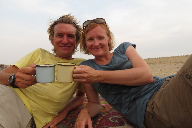 Cheers from the Karakum Desert!