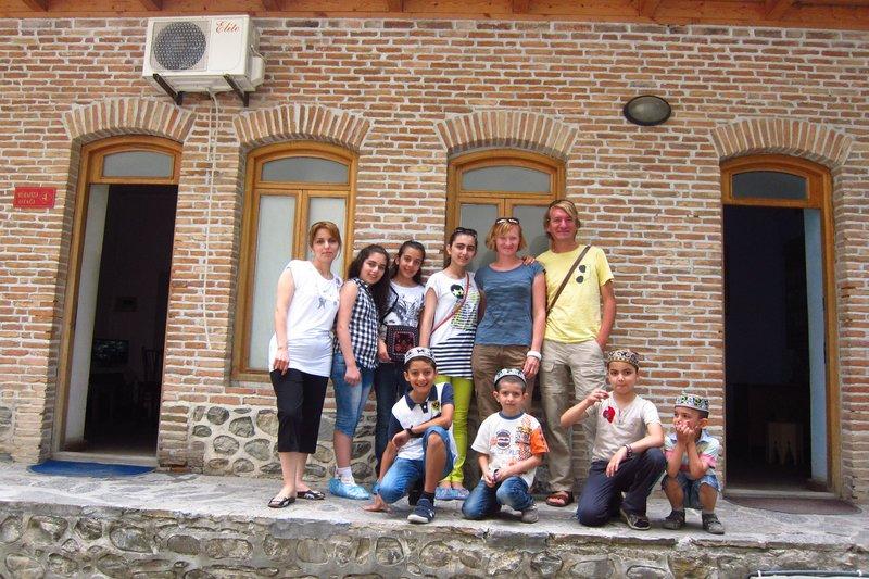 Shaki family visiting from Baku