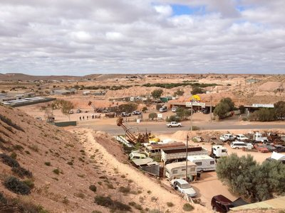 Above ground at Coober Pedy