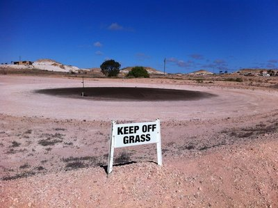 A 'green' at the Coober Pedy golf course