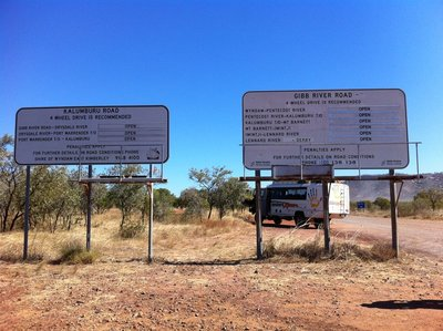 The start of the Gibb River road