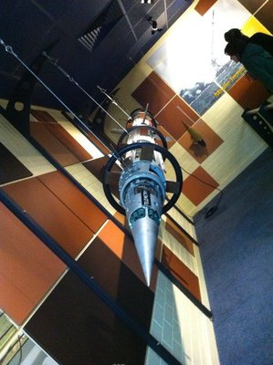 A missile at the Woomera space museum