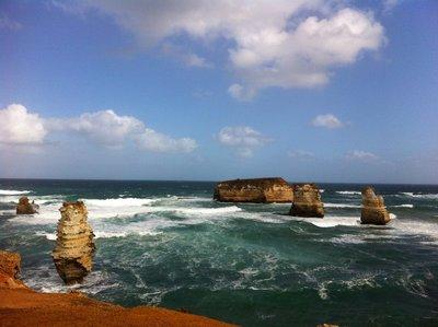 Limestone stacks, Bay of Islands, Vic
