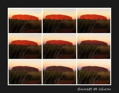 Uluru sunset time lapse