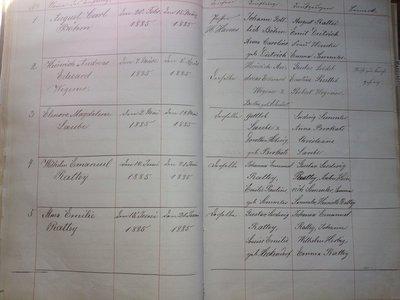 Friedensberg church records