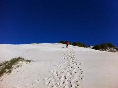 Sand boarding, Jurien Bay, WA