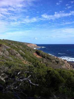 The coastline near Margaret River