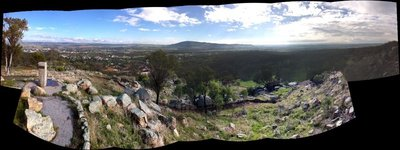 Looking down over Helen's home