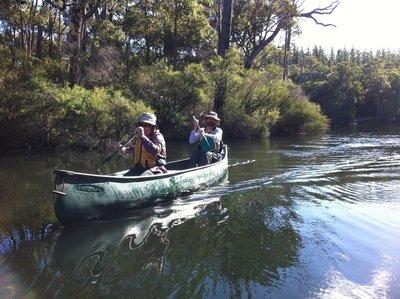 Canoeing the Margaret River