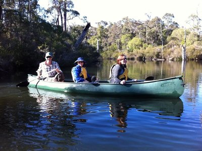 Canoeing the Margaret River
