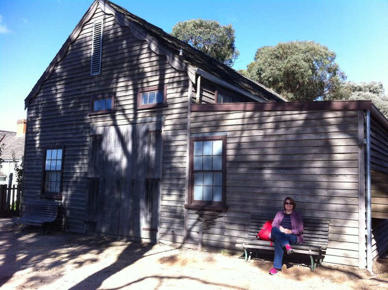 Karen resting at Sovereign Hill