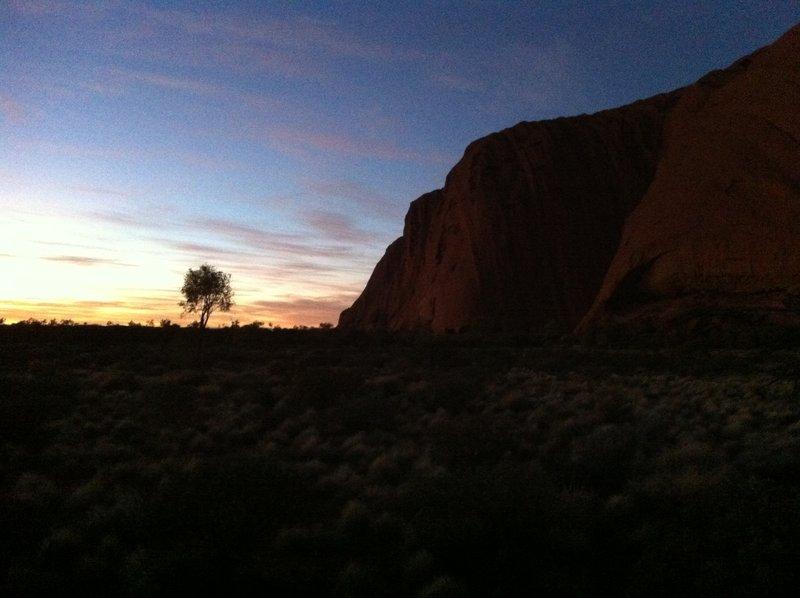 Sunrise near Uluru