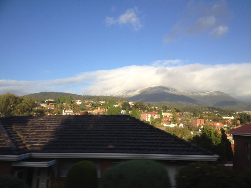 Our last view of Mt Wellington from the airport shuttle bus in Hobart