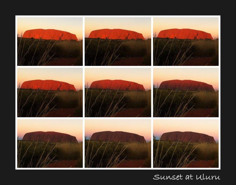 Uluru sunset time lapse