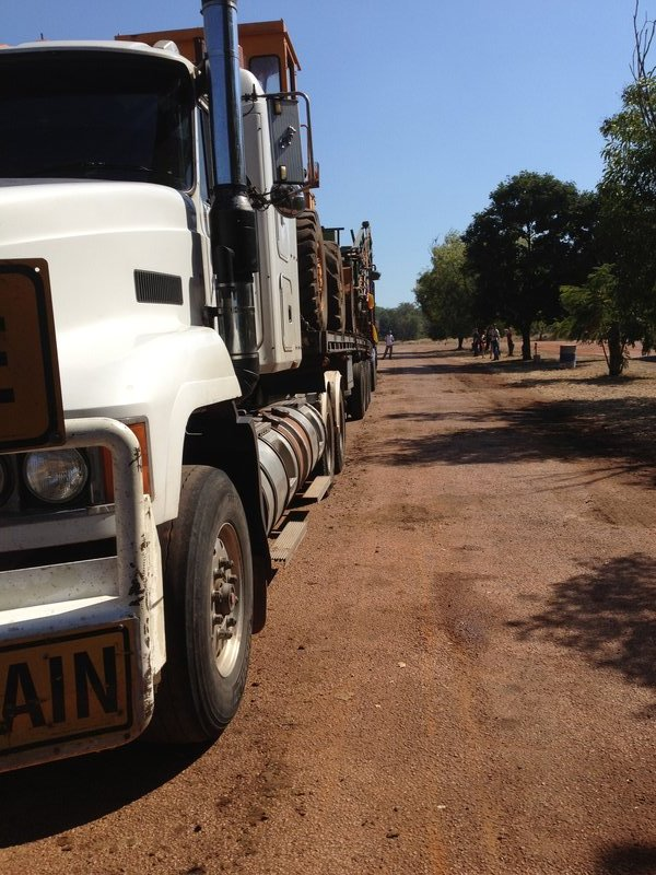 A road train in Dunmarra