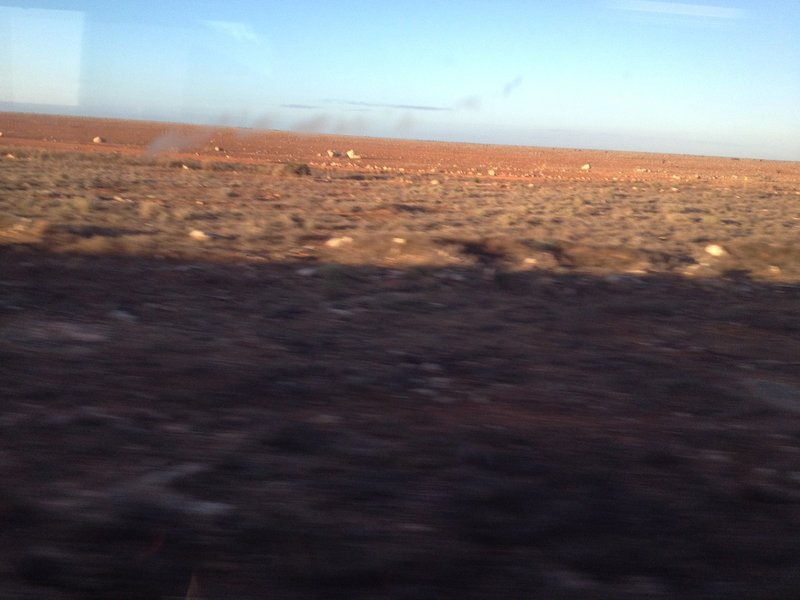 The Nullarbor Plain seen from the window of the Indian Pacific