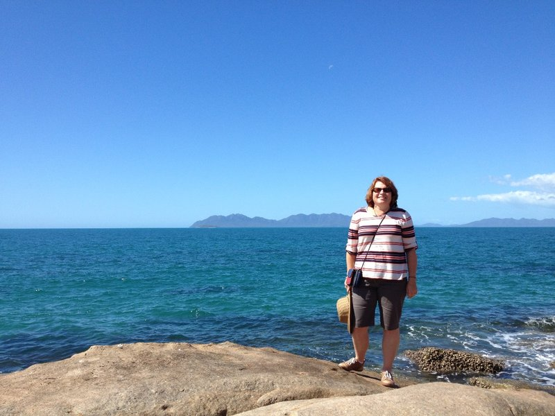 On the rocks at Rose Bay, Bowen