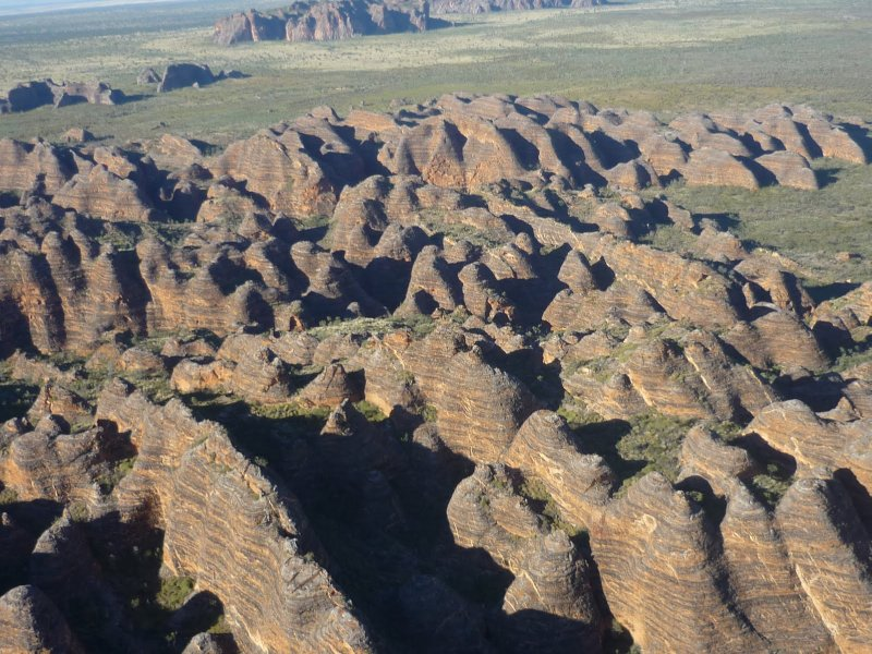 Bungle Bungles from the air (photo courtesy of Diana)