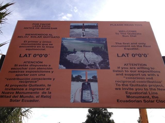 Latitude zero - Ecuador