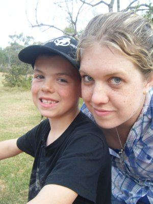 On the quad bike at Warialda