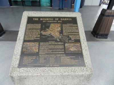 Darwin Bombing plaque