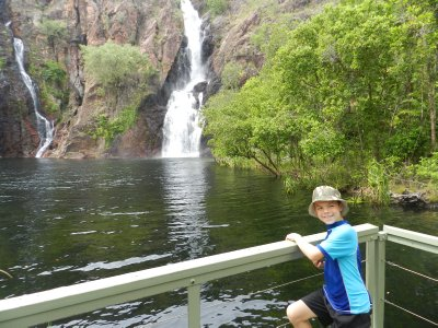 Izaak at Wangi Falls