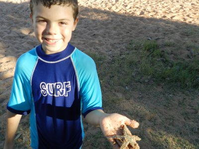 Izaak holding Starfish