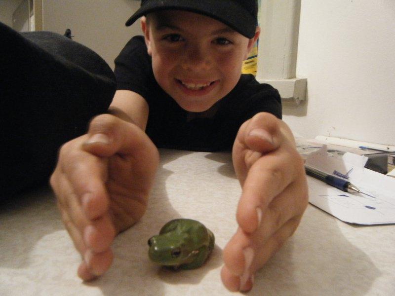 Izaak and the Frog