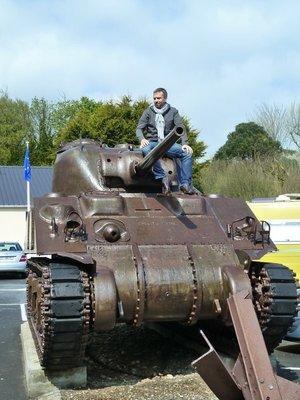 Sherman tank at Omaha Beach