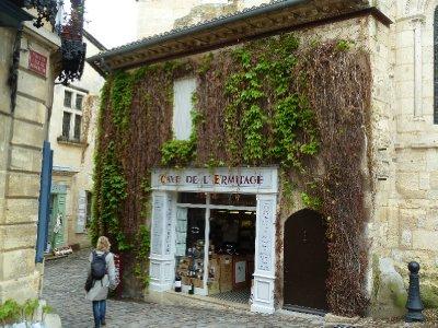 Wine shops in St Emillion, France