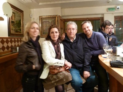 Some friends crossed on the tapas trail