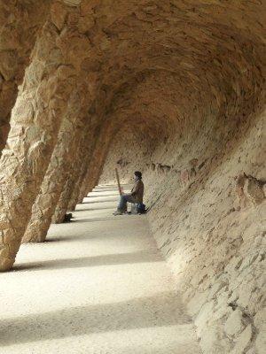 Gaudi walkway