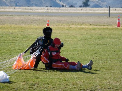 Back on the ground, Skydive