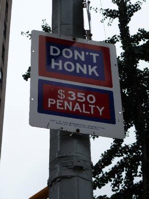 Don't Honk, NYC