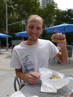 Eisenberg's Sandwich Shop Salami Bagel