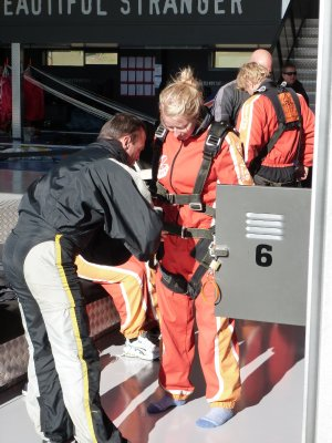 Harnessing Up, Skydive