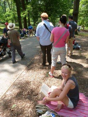 Queueing again, Central Park