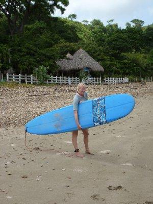 Sarah's surf lesson, El Remanso (4)