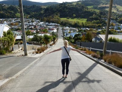 Stood on steepest street in the world!