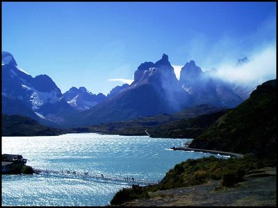 Fire at Torres de Paine