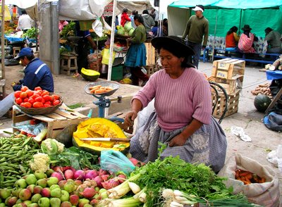 Market day at Huancayo/Peru