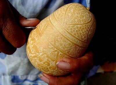 "Gourd carving,""Mate Burilado"""