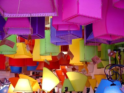 colorfull lampshades