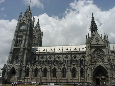 the old Catedral in Quito