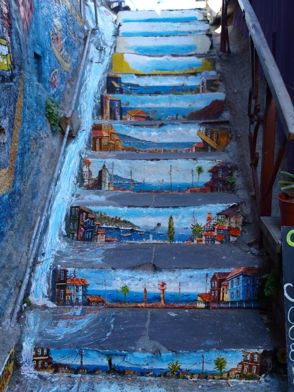 stairway in Valparaiso